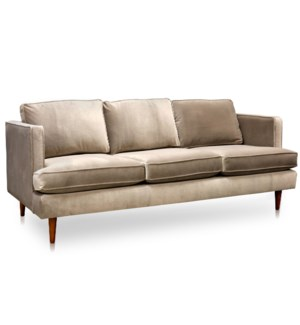 PERKINS SOFA- MOCHA | Shetland Mocha Fabric on Hardwood Frame