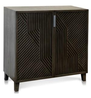 LAWSON CABINET | Gray Finish on Hardwood | 2 Door