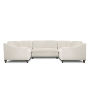 BRISTOL SECTIONAL | Dilly Ivory Fabric on Hardwood Frame