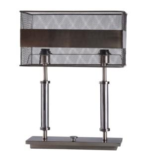 KEMPER TABLE LAMP | Iron Finish on Metal Body | Metal Shade | 100 Watt