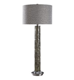 GEYER TABLE LAMP | Metallic Reverse Painted Finish on Glass Body with Crystal and Metal Base | Hardb
