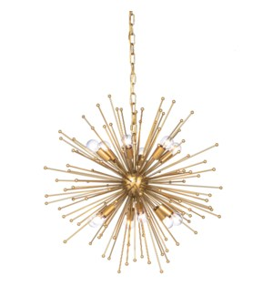 ARCHER CHANDELIER- SMALL | Gold Finished Metal