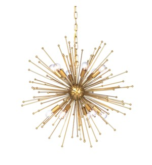 ARCHER CHANDELIER- LARGE | Gold Finished Metal