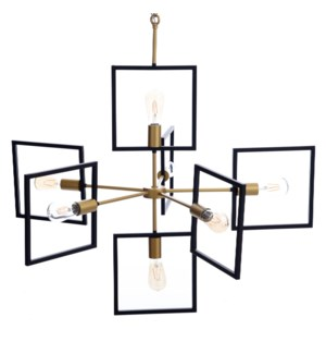 COMO CHANDELIER | Painted Gold and Black Finished Metal