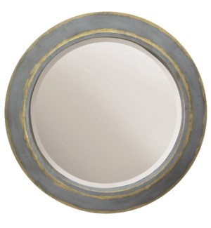 WENTWORTH MIRROR | Tin and Gold Finish on Metal Frame | Plain Glass Beveled Mirror