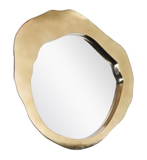 MILLER MIRROR- GOLD | Gold Finish on Metal Frame | Plain Glass Beveled Mirror
