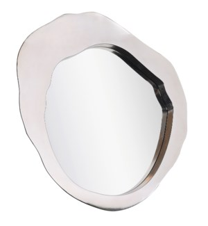 MILLER MIRROR- Silver | Silver Finish on Metal Frame | Plain Glass Beveled Mirror