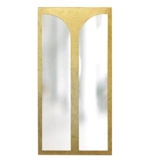 TURNER MIRROR- GOLD   Gold Finish on Resin Frame   Plain Glass Beveled Mirror