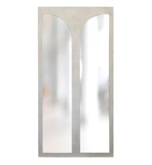 TURNER MIRROR- SILVER   Silver Finish on Resin Frame   Plain Glass Beveled Mirror