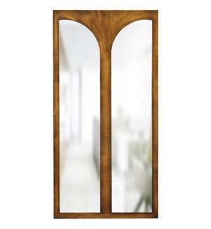 TURNER MIRROR- BRONZE   Bronze Finish on Resin Frame   Plain Glass Beveled Mirror