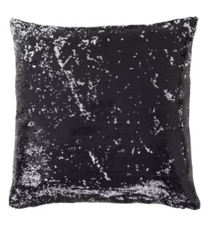 BEVERLY PILLOW- BLACK | Sequins on Felt | Down Feather Insert