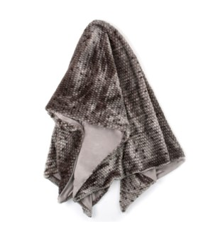 PONCA THROW- GRAY | Faux Fur