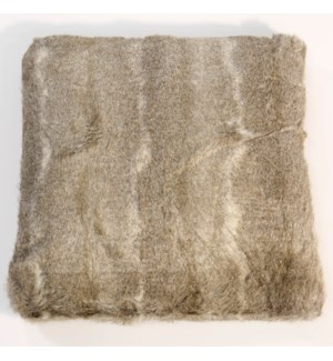 Taos Brown Fur Pillow Brown 22X22