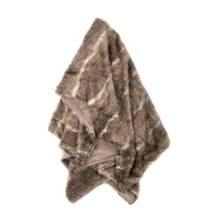 AZTEC THROW- TAUPE CREAM | Faux Fur