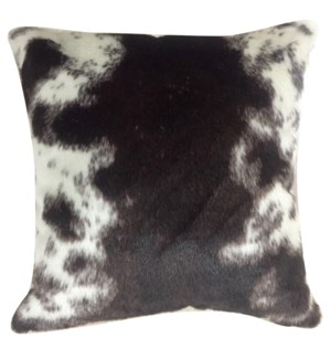 MAY HIDE PILLOW | Faux Hair on Hide- Brown | Poly Fill