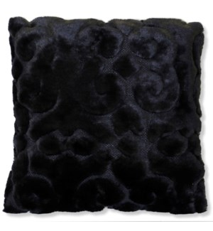 SCULPTURE BLACK PILLOW | Down Feather Insert | Set Of Two