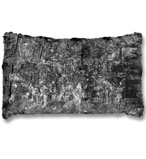 SHIMMER FUR SILVER PILLOW | Down Feather Insert