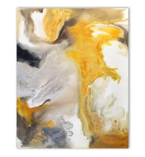 YELLOW SWIRL CANVAS ART