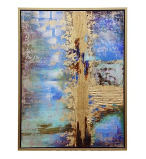 LARGO FRAMED CANVAS ART- SMALL | Hand Painted Abstract | 1.5 inch Frame