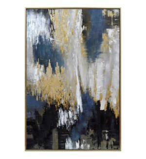 APOLLO FRAMED CANVAS ART   Hand Painted Abstract   1.5 inch Frame