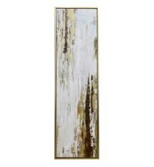 BOWERY II FRAMED CANVAS ART | Hand Painted Abstract | 1.5 inch Frame