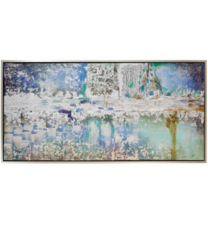 FLARE FRAMED CANVAS ART | Hang Painted Abstract | 1.5 inch Frame