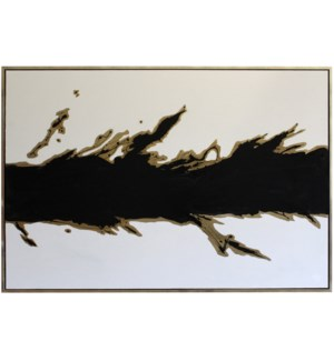 BREACH FRAMED CANVAS ART | Hand Painted Abstract | 1.5 inch Frame