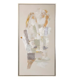 REQUISITE FRAMED CANVAS ART   Hand Painted Abstract   1.5 inch Frame