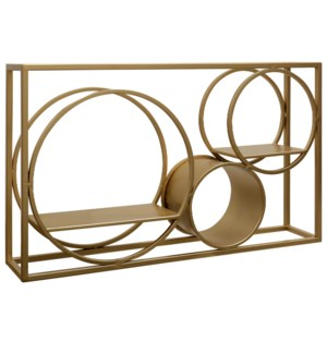 MATSON METAL ART- GOLD | Gold Finish on Metal with Shelves