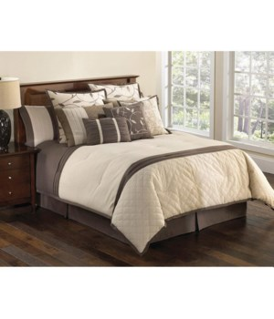 Verbena QN 9 pc Comforter Set