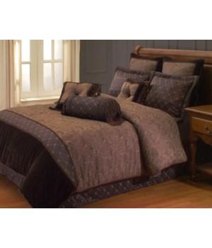 Opulent Paisley 9 PC Queen Comforter Set