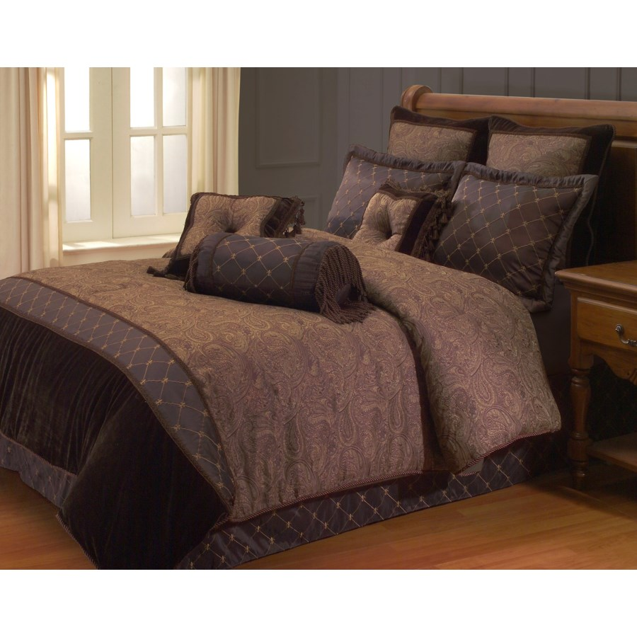 Opulent Paisley 9 PC Queen Comforter Set