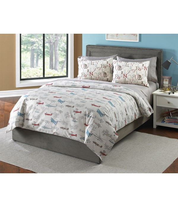 Kiddy Hawk 3 pc Tw Comforter Set (Made In USA)