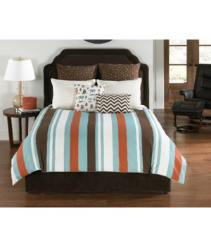 Speedwell 6 pc Queen Comf. Cov.w/Filler Set (angelo:HOME USA)