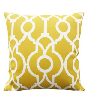 Temple Yellow Pillow 20x20-D