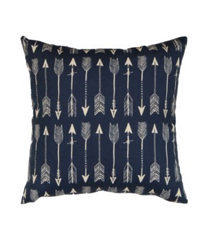 Arrows Pillow Blue 18x18