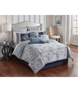 Charles 9 pc Queen Comforter Set