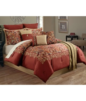 Madrid Brick 10pc Queen Comforter Set