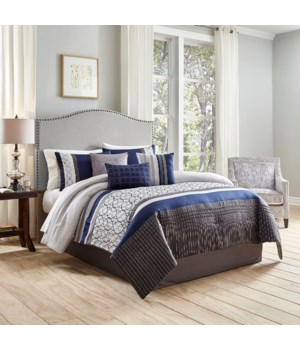 Ricci 7 PC Queen Comforter Set