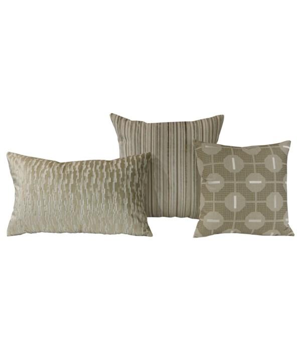 Traverse 3 pc Pillow Set  - Taupe