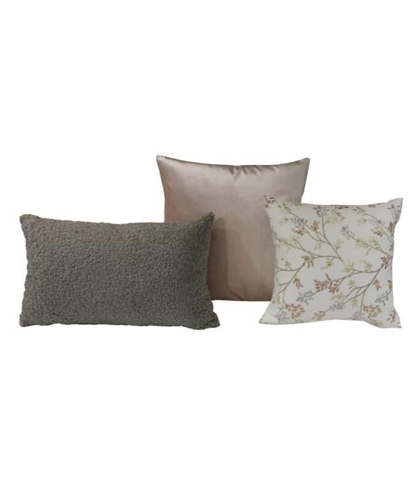 Vignette 3 pc Pillow Set  - Ivory