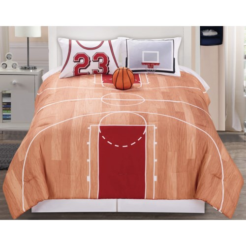 Courtside  3 pc Twin Comforter Set