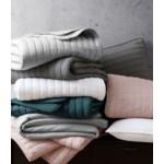 Mansfield 3PC F/Q Dark Gray Crinkle Coverlet