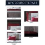 Eloise 8 Piece Queen Comforter Cover w Filler Set