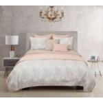 Kaylan Blush Taupe 6pc Twin Layered Comforter & Coverlet Set