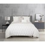 Kensil Gray White 8pc Full/Queen Layered Comforter & Coverlet Set
