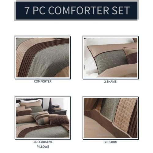 Rexwell 7pc Comforter Set Queen