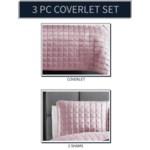 Luxe 3PC F/Q Blush Velvet Coverlet