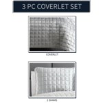 Luxe 3PC F/Q Silver Velvet Coverlet