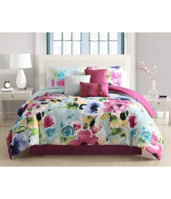 Alanis 7PC Queen Comforter Set